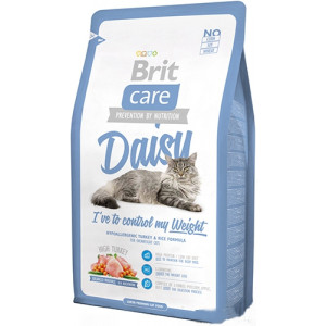 Brit Care Cat Daisy I have to control my Weight корм для кошек с избыточным весом с индейкой и рисом 2 кг.