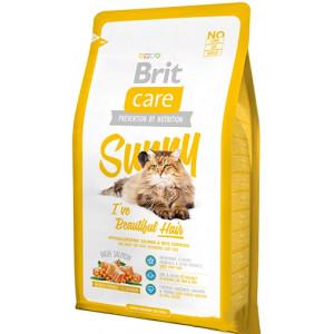 Brit Care Cat Sunny I have Beautiful Hair сухой корм для ухода за шерстью кошек с лососем и рисом 2 кг.