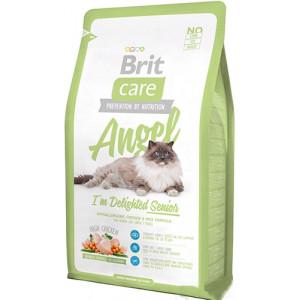 Brit Care Cat Angel I am Delighted Senior сухой корм для пожилых кошек с курицей и рисом 7 кг.