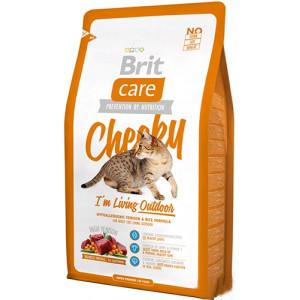 Brit Care Cat Cheeky I am Living Outdoor сухой корм для кошек живущих на улице с олениной и рисом 7 кг.