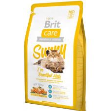 Brit Care Cat Sunny I have Beautiful Hair сухой корм для ухода за шерстью кошек с лососем и рисом 7 кг.