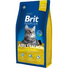 Brit Premium Cat Adult Salmon сухой корм для взрослых кошек с лососем 8 кг.