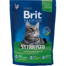 Brit Premium Cat Sterilized сухой корм для стерилизованных кошек и котов с курицей и рисом 1,5 кг.