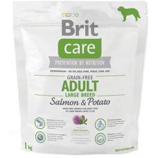 Brit Care GF Adult Large Breed Salmon & Potatoes сухой корм для собак весом от 25 кг c лососем и картофелем 1 кг