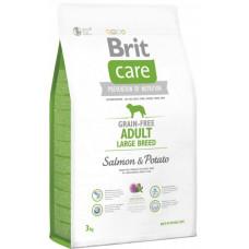 Brit Care GF Adult Large Breed Salmon & Potatoes сухой корм для собак весом от 25 кг c лососем и картофелем 3 кг