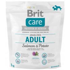 Brit Care GF Adult Salmon & Potatoes сухой корм для собак весом до 25 кг с лососем и картофелем 1 кг