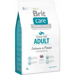 Brit Care GF Adult Salmon & Potatoes сухой корм для собак весом до 25 кг с лососем и картофелем 3 кг