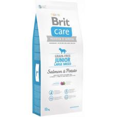 Brit Care GF Junior Large Breed Salmon & Potatoes сухой корм для щенков крупных пород с лососем и картофелем 12 кг