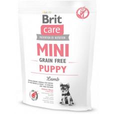 Brit Care Mini Grain Free Puppy сухой беззерновой гипоаллергенный корм для щенков миниатюрных пород (от 2 недель до 10 месяцев) и кормящих сук с ягненком 0,4 кг