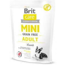 Brit Care Mini Grain Free Adultсухой корм для взрослых собак миниатюрных пород с ягненком 0,4 кг