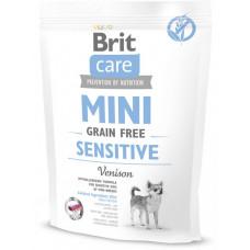 Brit Care Sensitive Grain Free сухой корм для взрослых собак миниатюрных пород с чувствительным пищеварением с олениной 0,4 кг