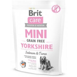 Brit Care Sensitive Grain Free yorkshire сухой корм для взрослых собак породы йоркширский терьер с лососем и тунцом 0,4 кг
