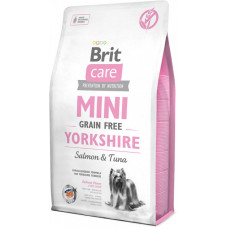 Brit Care Sensitive Grain Free yorkshire сухой корм для взрослых собак породы йоркширский терьер с лососем и тунцом 2 кг