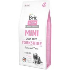 Brit Care Sensitive Grain Free yorkshire сухой корм для взрослых собак породы йоркширский терьер с лососем и тунцом 7 кг