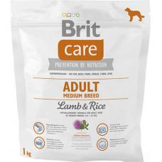 Brit Care Adult Medium Breed Lamb & rice сухий корм для дорослих собак середніх порід з ягням і рисом 1 кг