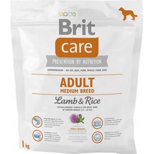 Brit Care Adult Medium Breed Lamb & riceсухой корм для взрослых собак средних пород с ягненком и рисом 1 кг