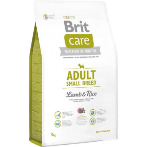 Brit Care Adult Small Breed Lamb & rice сухой корм для взрослых собак мелких пород с мясом ягенека и рисом 3 кг