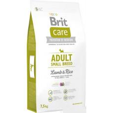 Brit Care Adult Small Breed Lamb & rice сухий корм для дорослих собак дрібних порід з м'ясом ягенека і рисом 7,5 кг