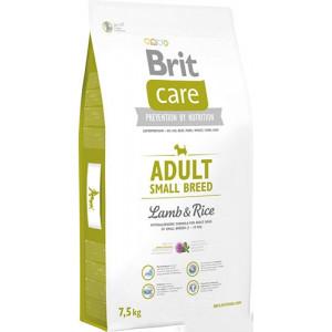 Brit Care Adult Small Breed Lamb & rice сухой корм для взрослых собак мелких пород с мясом ягенека и рисом 7,5 кг