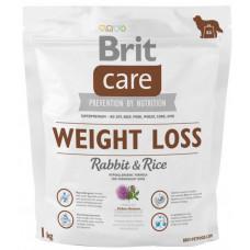 Brit Care Weight Loss Rabbit & Rice сухой корм для собак с лишним весомс кроликом и рисом 1 кг