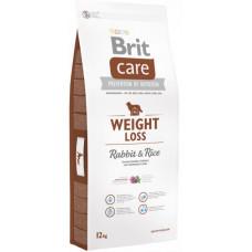Brit Care Weight Loss Rabbit & Rice сухой корм для собак с лишним весомс кроликом и рисом 12 кг