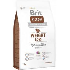 Brit Care Weight Loss Rabbit & Rice сухой корм для собак с лишним весомс кроликом и рисом 3 кг