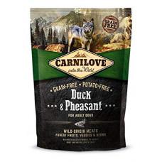 Brit Carnilove Adult Duck & Pheasant сухойполнорационный беззерновой корм для взрослыхсобак всех пород с мясом утки и фазана1,5 кг