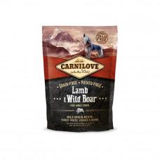 Carnilove Adult Lamb & Wild Boar сухойполнорационный беззерновой корм для взрослыхсобак всех пород с мясомягненка и дикого кабана1,5 кг