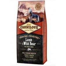 Brit Carnilove Adult Lamb & Wild Boar сухойполнорационный беззерновой корм для взрослыхсобак всех пород с мясомягненка и дикого кабана12 кг