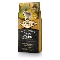 Brit Carnilove Adult Large Salmon & Turkey сухойполнорационный беззерновой корм для взрослыхсобаккрупных пород весом от 25 кг с лососем и индейкой12 кг