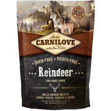 Carnilove Adult Raindeer сухойполнорационный беззерновой корм для взрослыхсобак всех пород с мясом северного оленя 1,5 кг