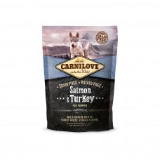 Brit carnilove Puppy Salmon & Turkeyсухойполнорационный беззерновой корм для щенков и молодыхсобак всех пород с мясом лосося и индейки 1,5 кг