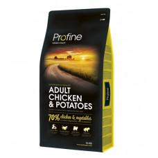 Profine Adult Chicken & Potatoesсухой корм для взрослых собак с курицей и картофелем 15 кг