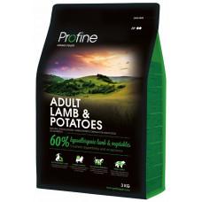 Profine Adult Lamb & Potatoes сухой корм для взрослых собак с ягненком и картофелем 3 кг