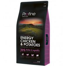 Profine Energy Chicken & Potatoes сухой корм для взрослых собак с повышенной физической нагрузкой 15 кг