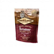 Carnilove Cat Energy & Outdoor сухой корм для взрослых и активных кошек с мясом северного оленя 0,4 кг.