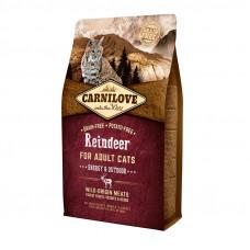 Carnilove Cat Energy & Outdoor сухой корм для взрослых и активных кошек с мясом северного оленя 2 кг.