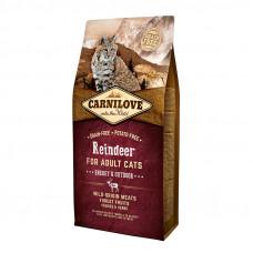 Carnilove Cat Energy & Outdoor сухой корм для взрослых и активных кошек с мясом северного оленя 6 кг.