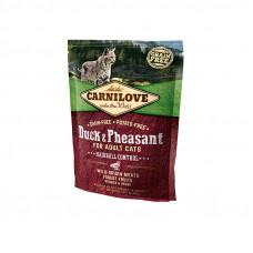 Carnilove Cat Hairball Controll сухой корм для выведения комков шерсти у кошек с уткой и фазаном 0,8 кг.