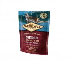 Carnilove Cat Sensitive & Long Hair корм для кошек с чувствительным пищеварением со вкусом лосося 0,4 кг.