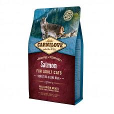 Carnilove Cat Sensitive & Long Hair корм для кошек с чувствительным пищеварением со вкусом лосося 2 кг.
