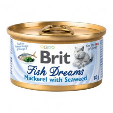 Brit Fish Dreams k 80g скумбрия и водоросли