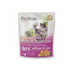 Profine Cat Derma сухой корм для длинношетстных котов с лососем 0,3 кг.