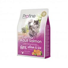 Profine Cat Derma сухой корм для длинношетстных котов с лососем 1,5 кг.