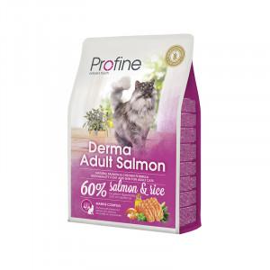 Profine Cat Derma сухой корм для длинношетстных котов с лососем 2 кг.
