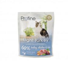 Profine Cat Light корм для оптимизации веса у взрослых кошек с индейкой 0,3 кг.