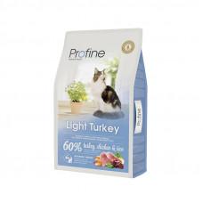 Profine Cat Light корм для оптимизации веса у взрослых кошек с индейкой 10 кг.