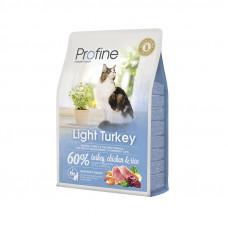 Profine Cat Light корм для оптимизации веса у взрослых кошек с индейкой 2 кг.