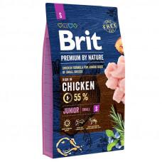 Brit Premium Junior S сухой корм для щенков и молодых собак мелких пород с курицей 8 кг