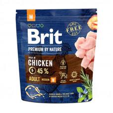 Brit Premium Adult Mсухой корм для взрослых собак средних пород с курицей 1 кг